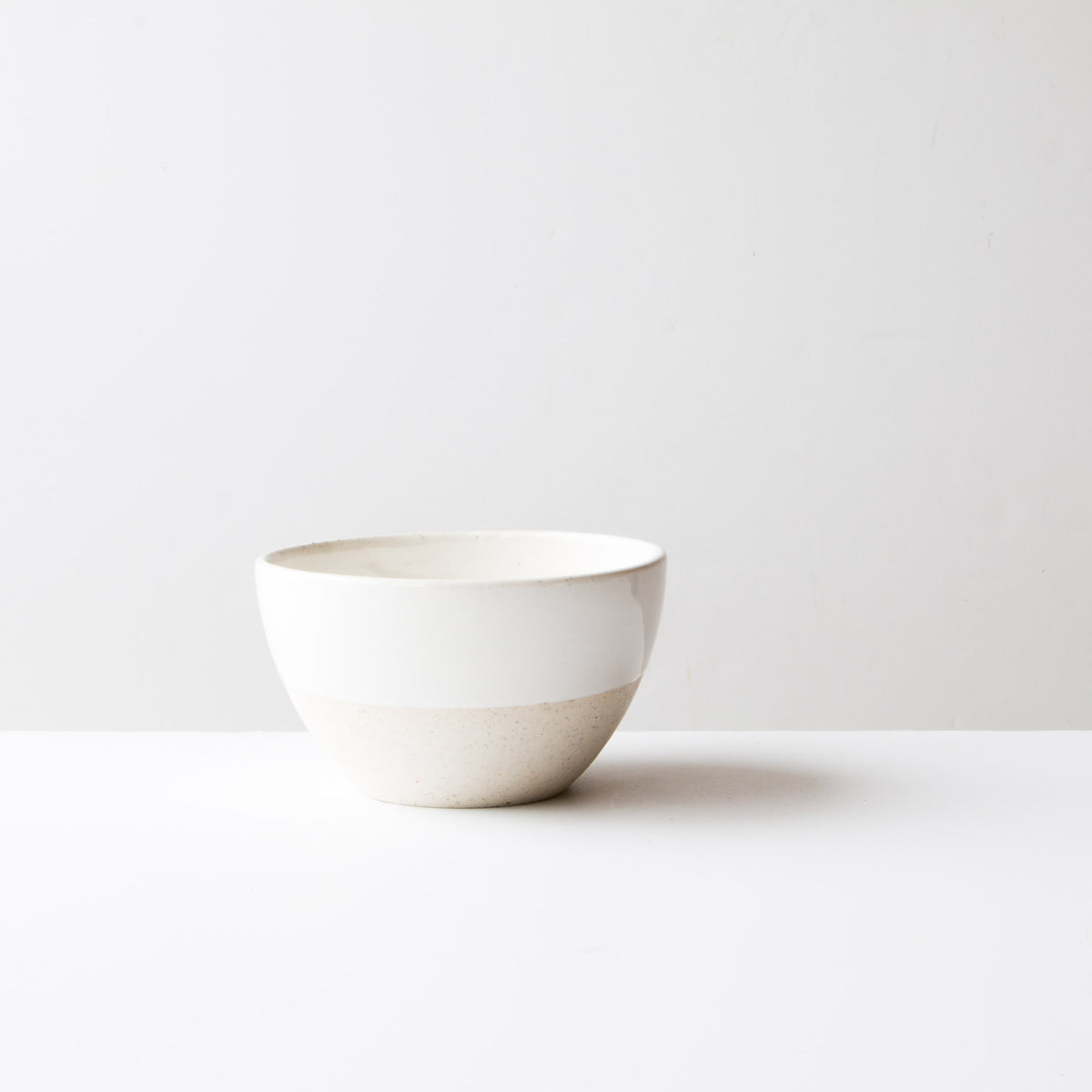 Oatmeal Clay - Soft White Glaze - Large Ceramic Soup Bowl - Handmade in Québec - Sold by Chic & Basta