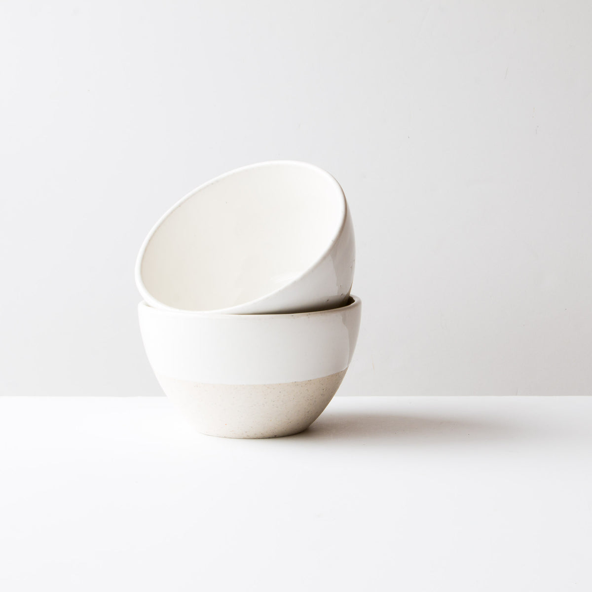 Oatmeal Clay - Soft White Glaze - Large Ceramic Soup Bowls - Handmade in Québec - Sold by Chic & Basta