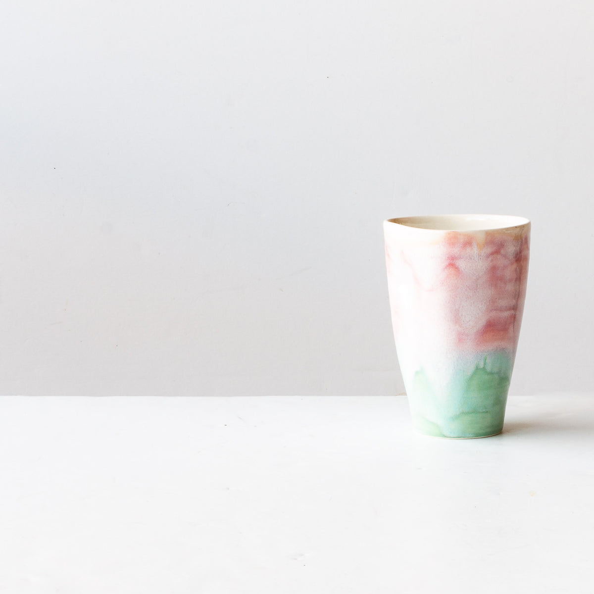 Handcrafted Large Ergonomic Tumbler - Watercolor - Sold by Chic & Basta