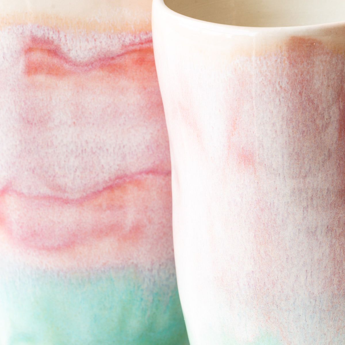 Watercolor Texture Detail -  Handcrafted Large Ergonomic Tumblers - Sold by Chic & Basta