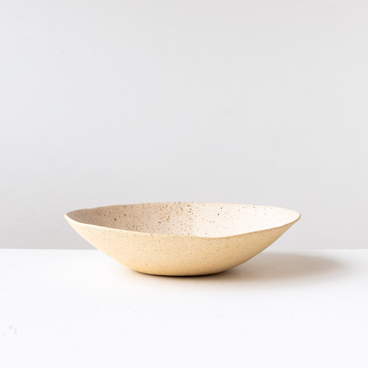 Freckled Off-White - Handcrafted Large Freckled Stoneware Fruit Bowl - Sold by Chic & Basta