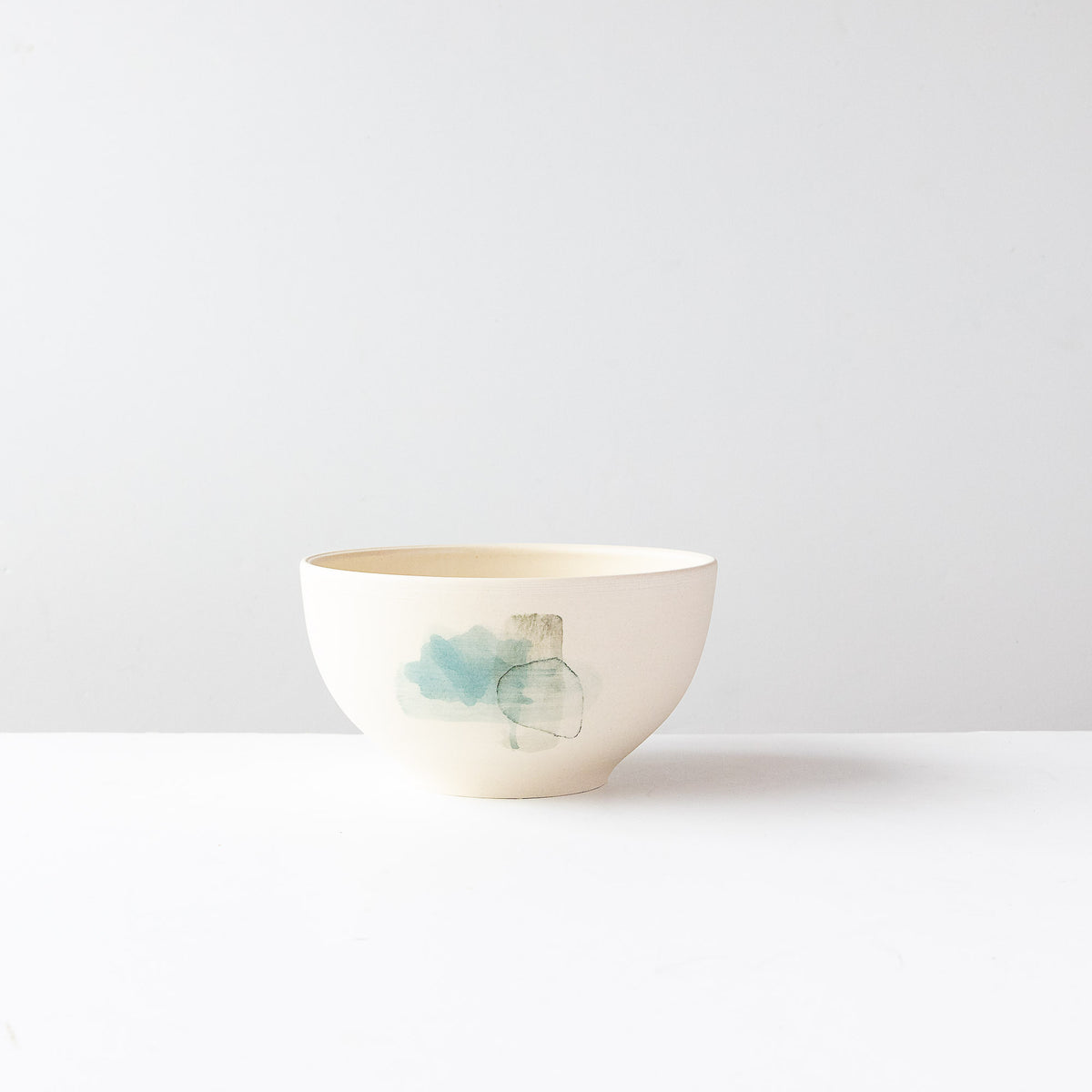 Blue Pattern - Large Hand Painted White Porcelain Bowl - Sold by Chic & Basta