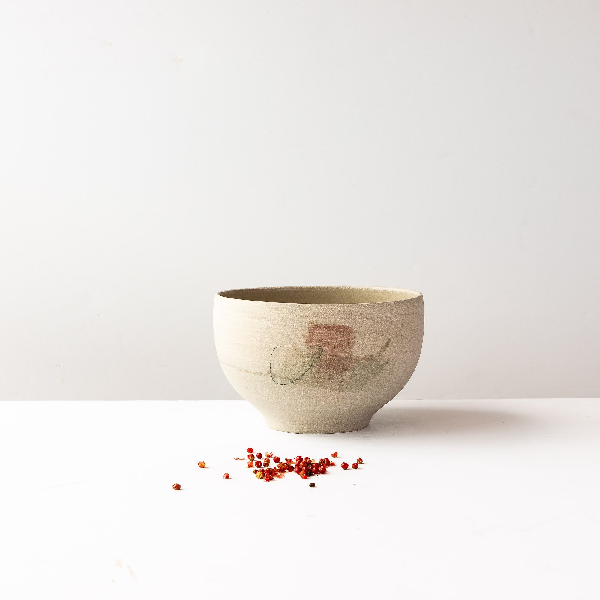 Large Hand Painted Stoneware Bowl - Sold by Chic & Basta