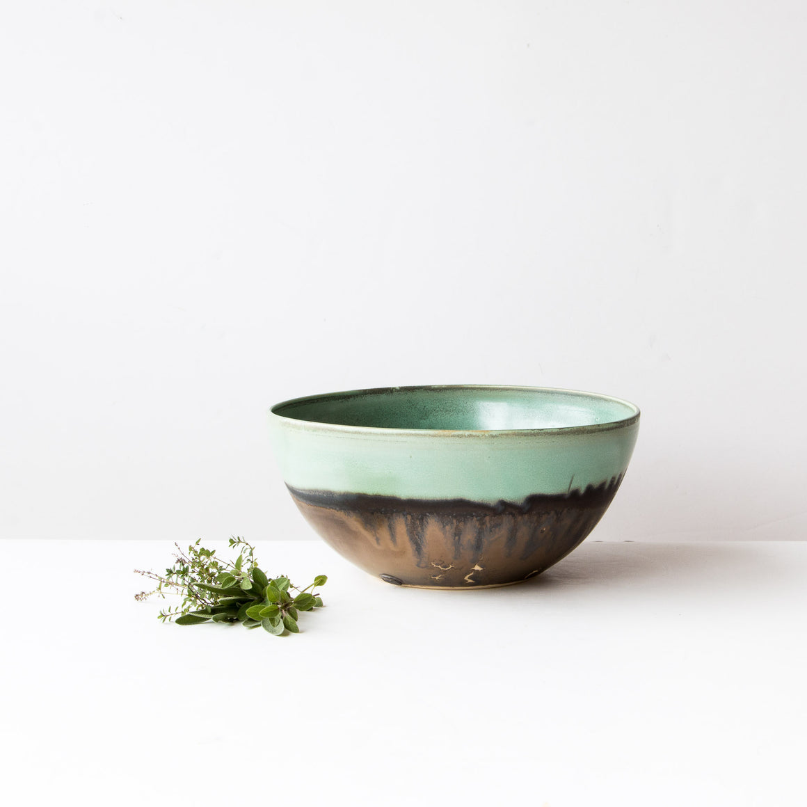 Large Handmade Turquoise Stoneware  Bowl - Sold by Chic & Basta