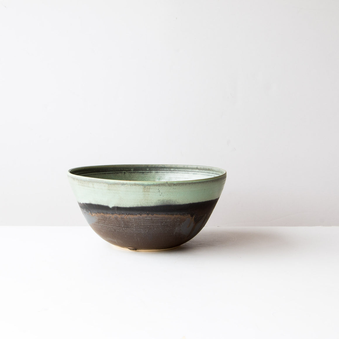Handcrafted Large Stoneware Turquoise Bowl - Sold by Chic & Basta