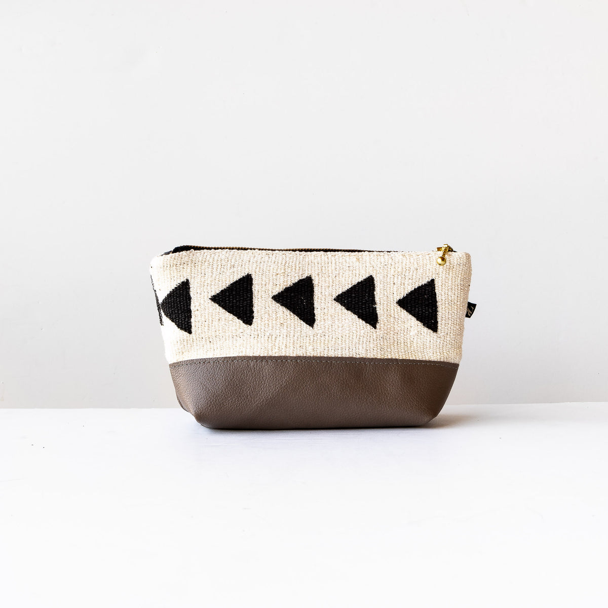 La Trousse - Handcrafted Leather & African Bogolan Fabric Case - Sold by Chic & Basta