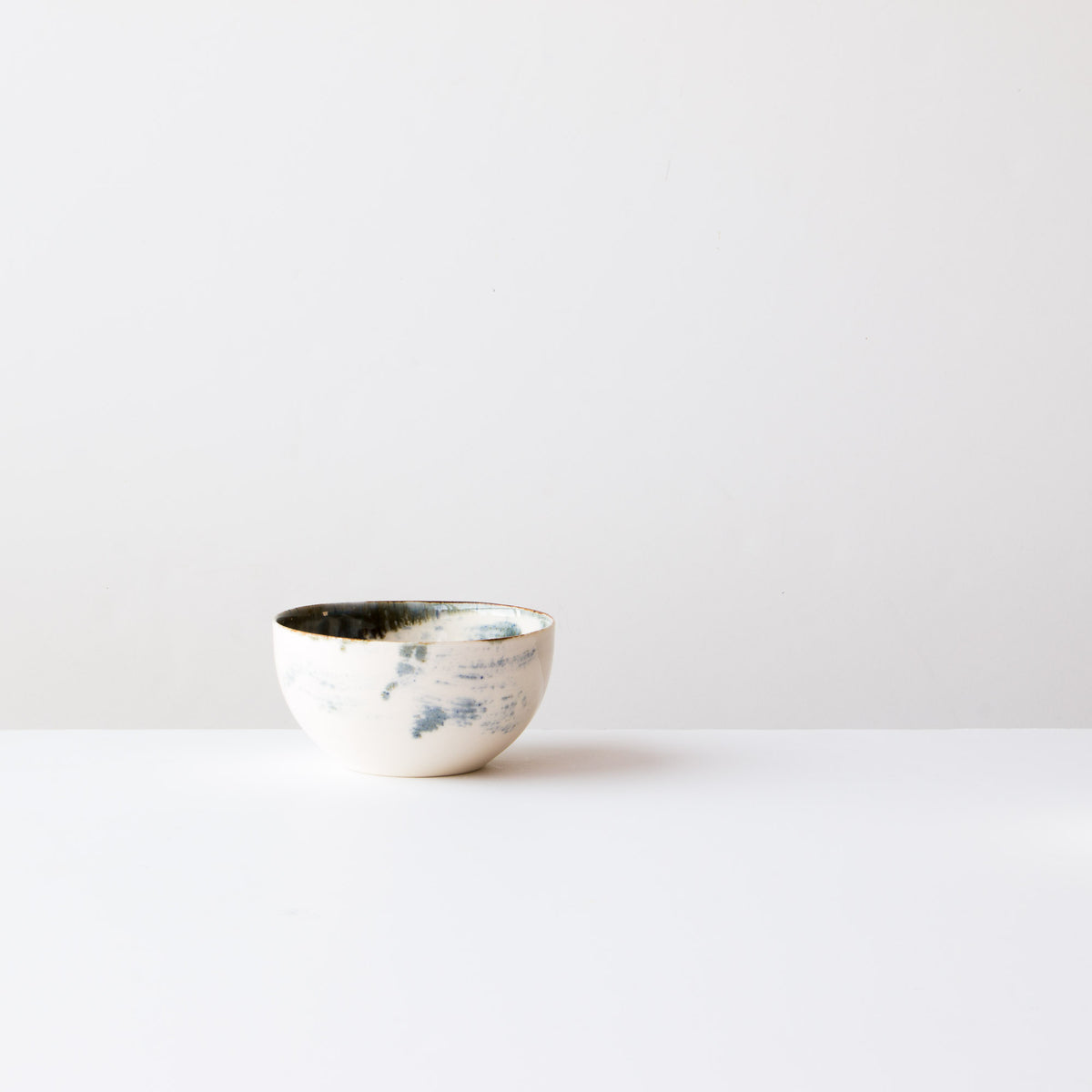 Handmade Porcelain Rice Bowl - White Painted Porcelain - Sold by Chic & Basta