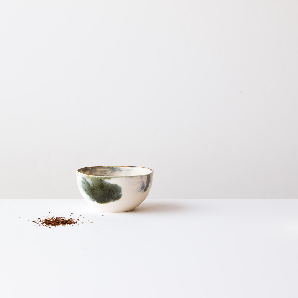 Handmade Porcelain Rice Bowl - White Painted Porcelain - Sold Onbline by Chic & Basta