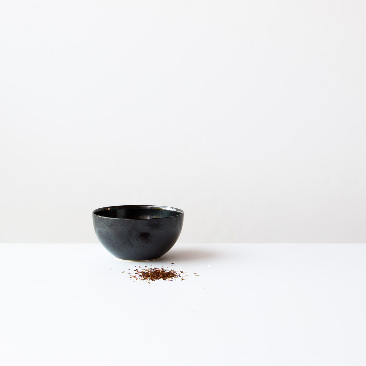 Handmade Porcelain Rice Bowl - Black Porcelain - Sold Online by Chic & Basta