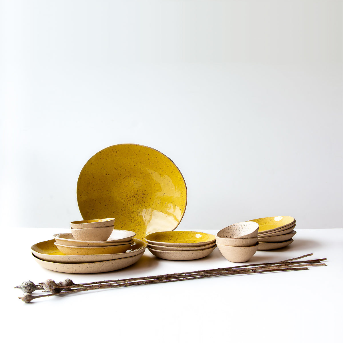 Lola Cera- Freckled Stoneware Ceramic Collection - Sold by Chic & Basta