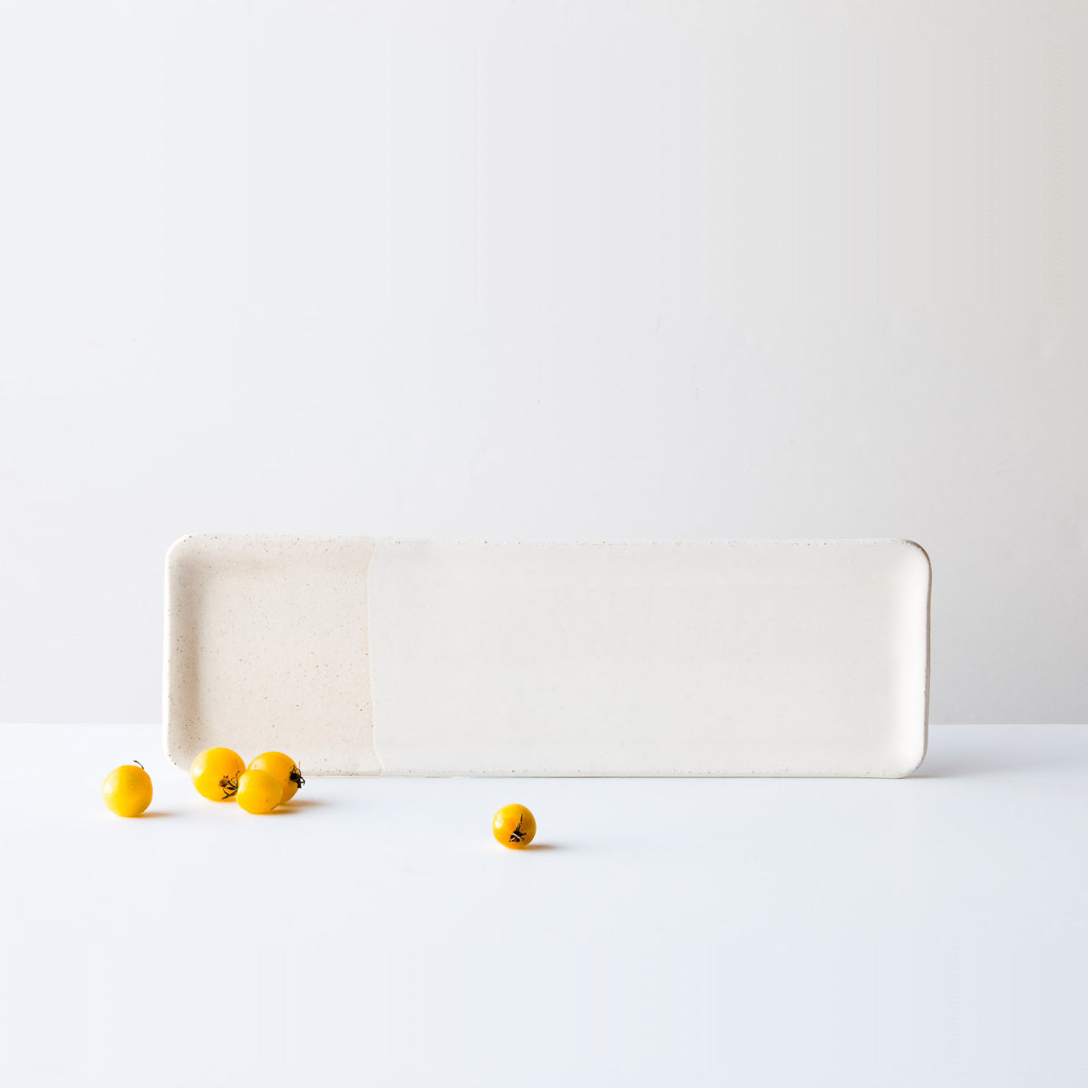 Oatmeal Clay - Long Ceramic Serving Platter - Handmade in Canada - Sold by Chic & Basta