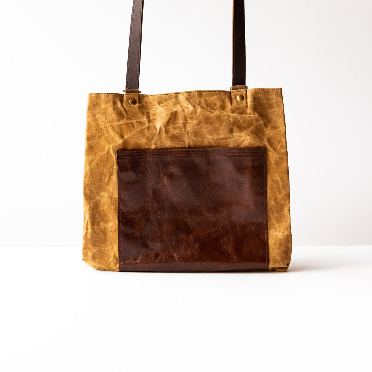 Masson - Large Tote Bag / Backpack - Cowhide & Waxed Cotton Canvas - Sold by Chic & Basta