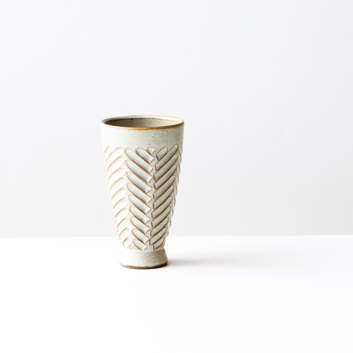 Mazagran Coffee Cup - Herringbone Pattern