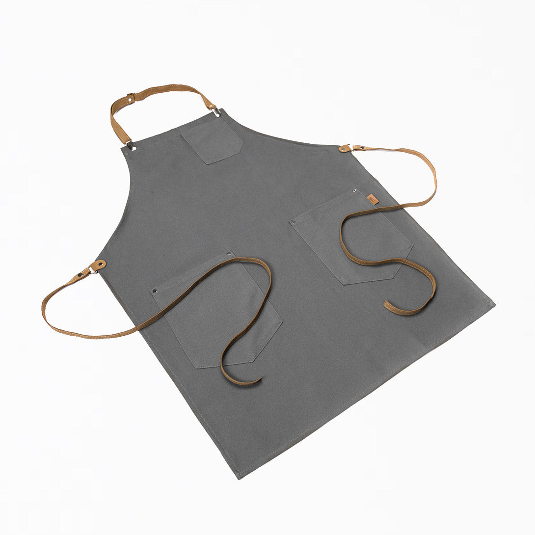 Black Kitchen Apron for Men - PATRIZIO - Made in Quebec - Sold by Chic & Basta
