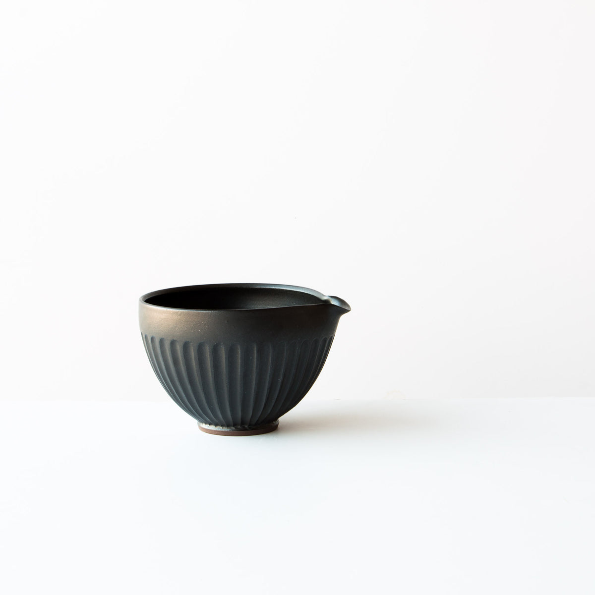 Black Colour - Hand Thrown Ceramic Mixing / Batter Bowl - Handmade in Canada - Chic & Basta