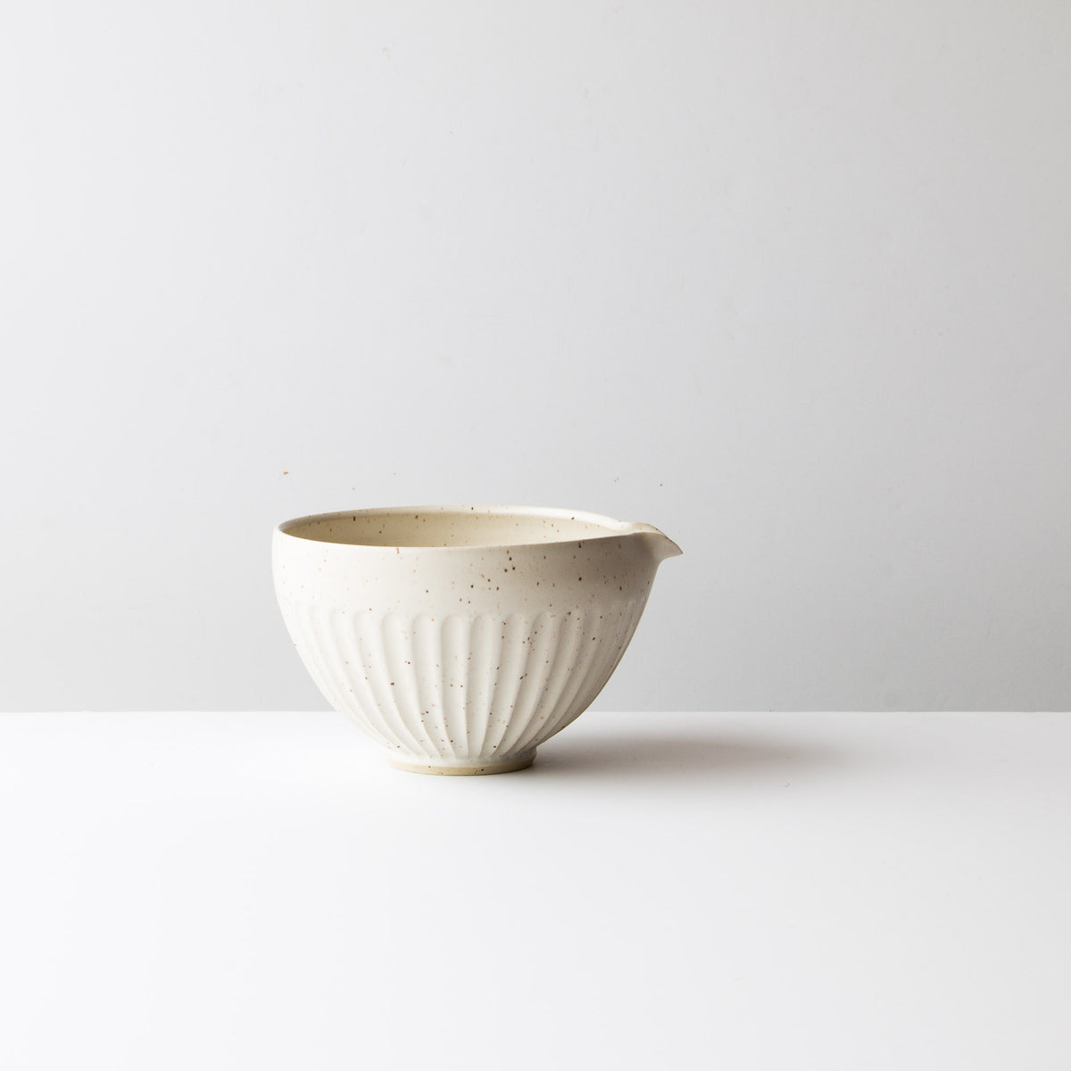 Speckled Off-White - Hand Thrown Ceramic Mixing / Batter Bowl - Handmade in Canada - Chic & Basta