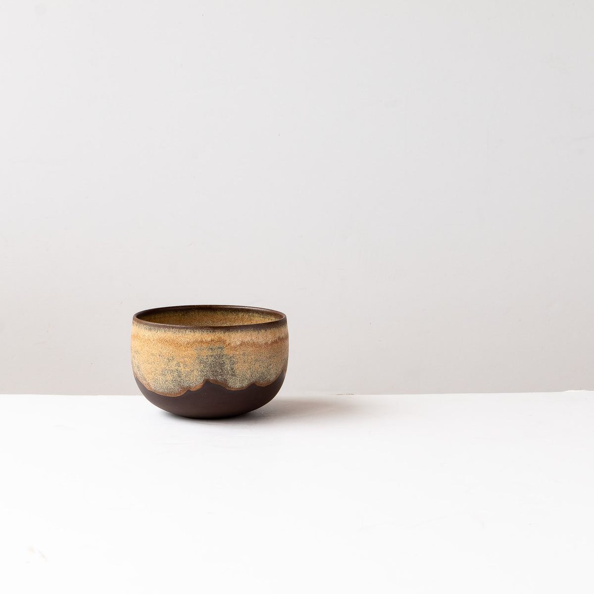 Handthrown Coffee Bowl in Black Stoneware - Sold by Chic & Basta