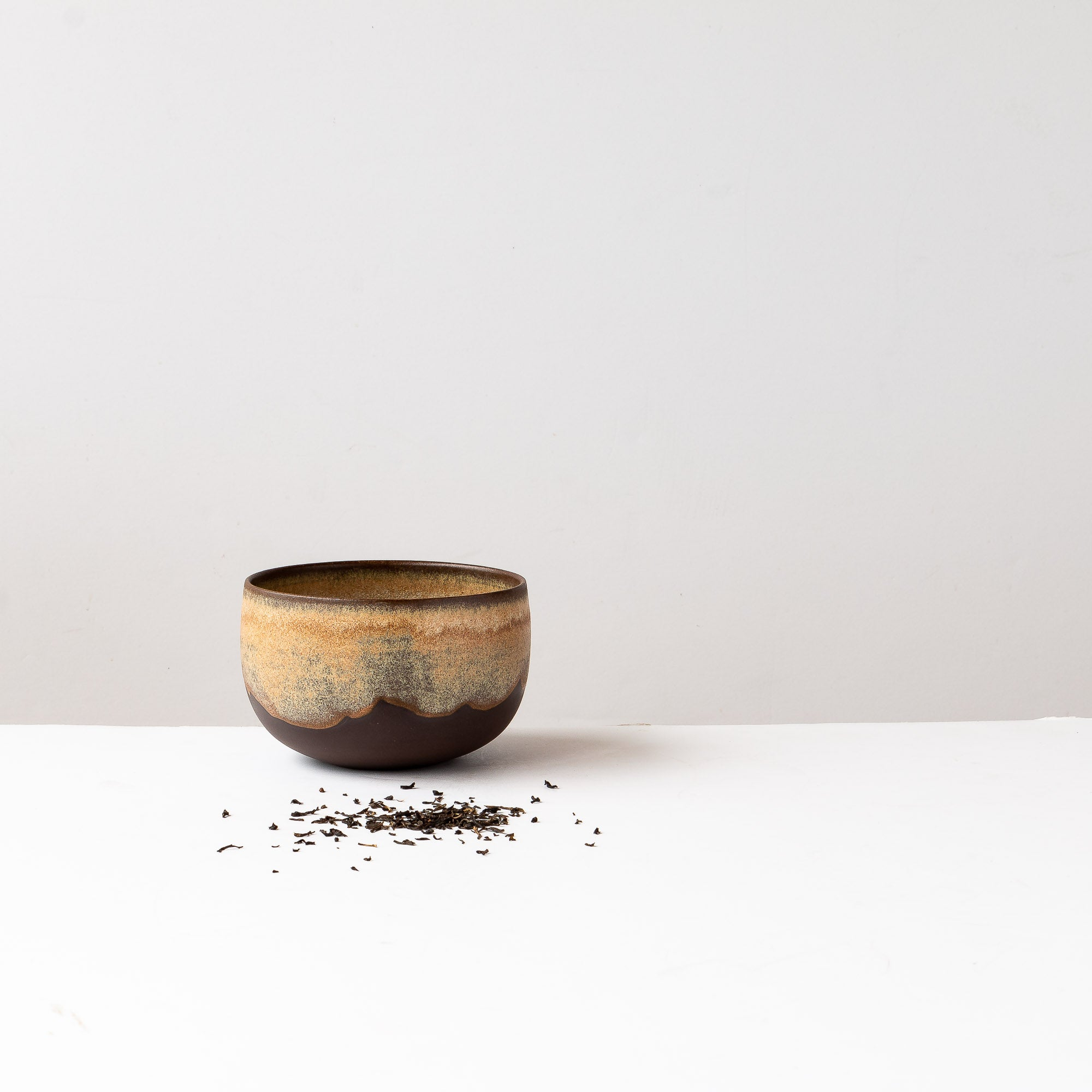 Handmade Coffee Bowl in Black Stoneware - Sold by Chic & Basta