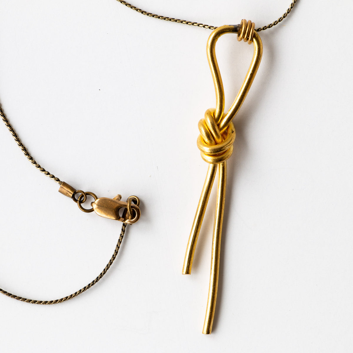 Detail - Lodo Necklace - Handcrafted in Brass - Sold by Chic & Basta