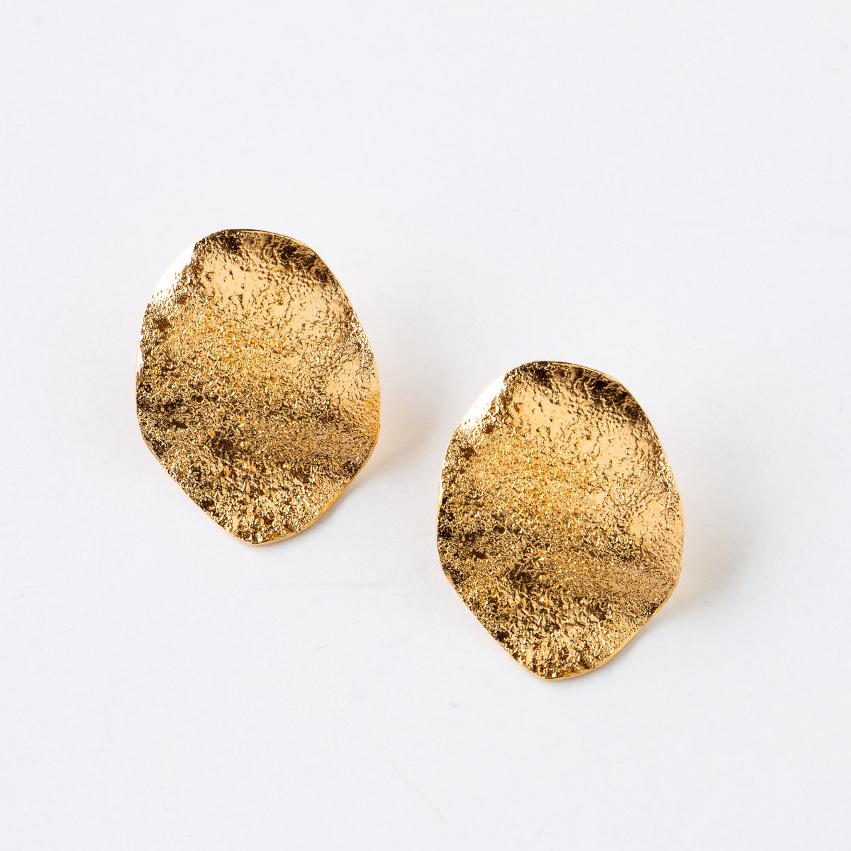 Olas - Handmade Golden Earrings in Silver & Gold - Sold by Chic & Basta