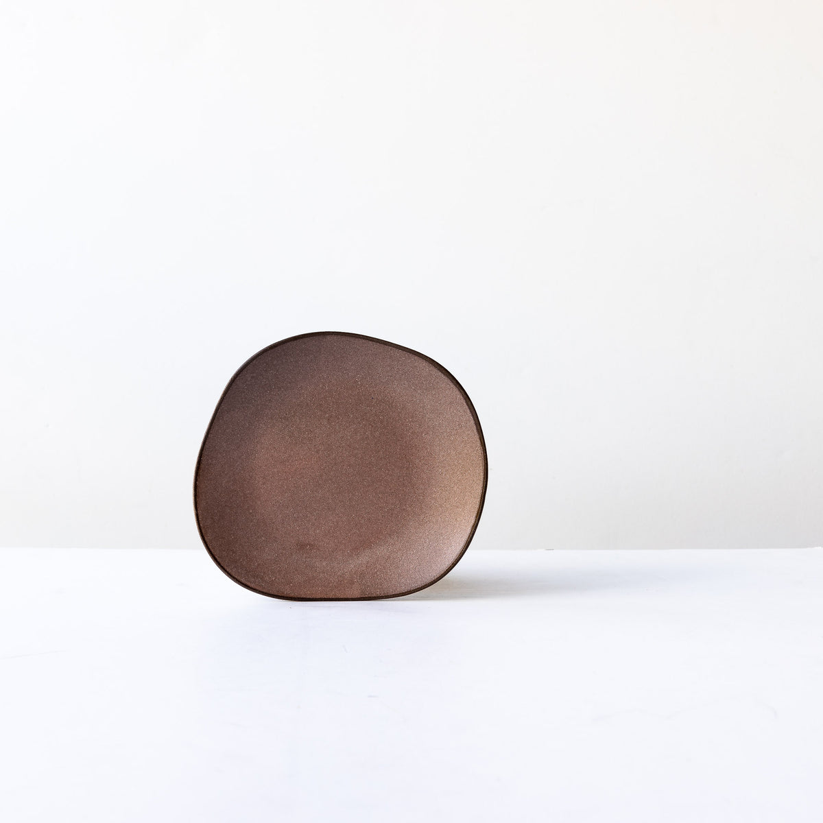 Pink Handcrafted Organic Shaped Small Stoneware Plate - Sold by Chic & Basta