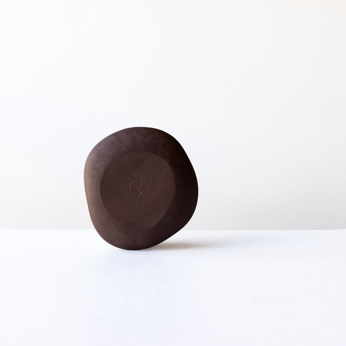 rear View - Handcrafted Organic Shaped Small Stoneware Plate - Sold by Chic & Basta