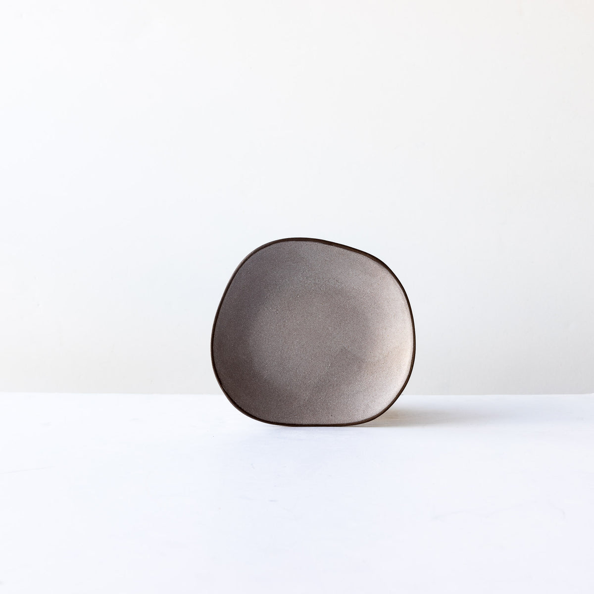 Grey Handcrafted Organic Shaped Small Stoneware Plate - Sold by Chic & Basta