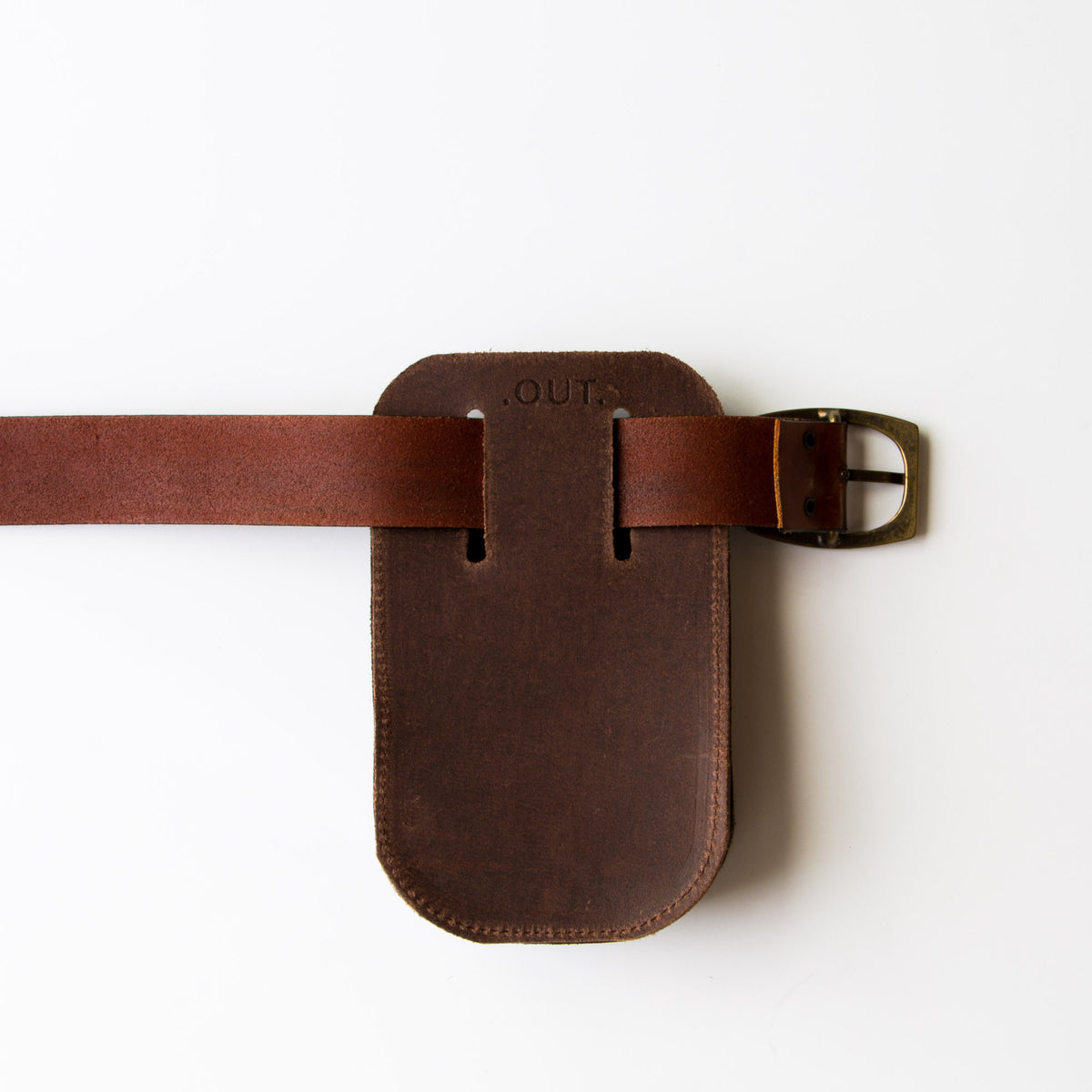 Back View - Leather & Felt Tool Holder / Pouch - Handmade in Canada - Chic & Basta