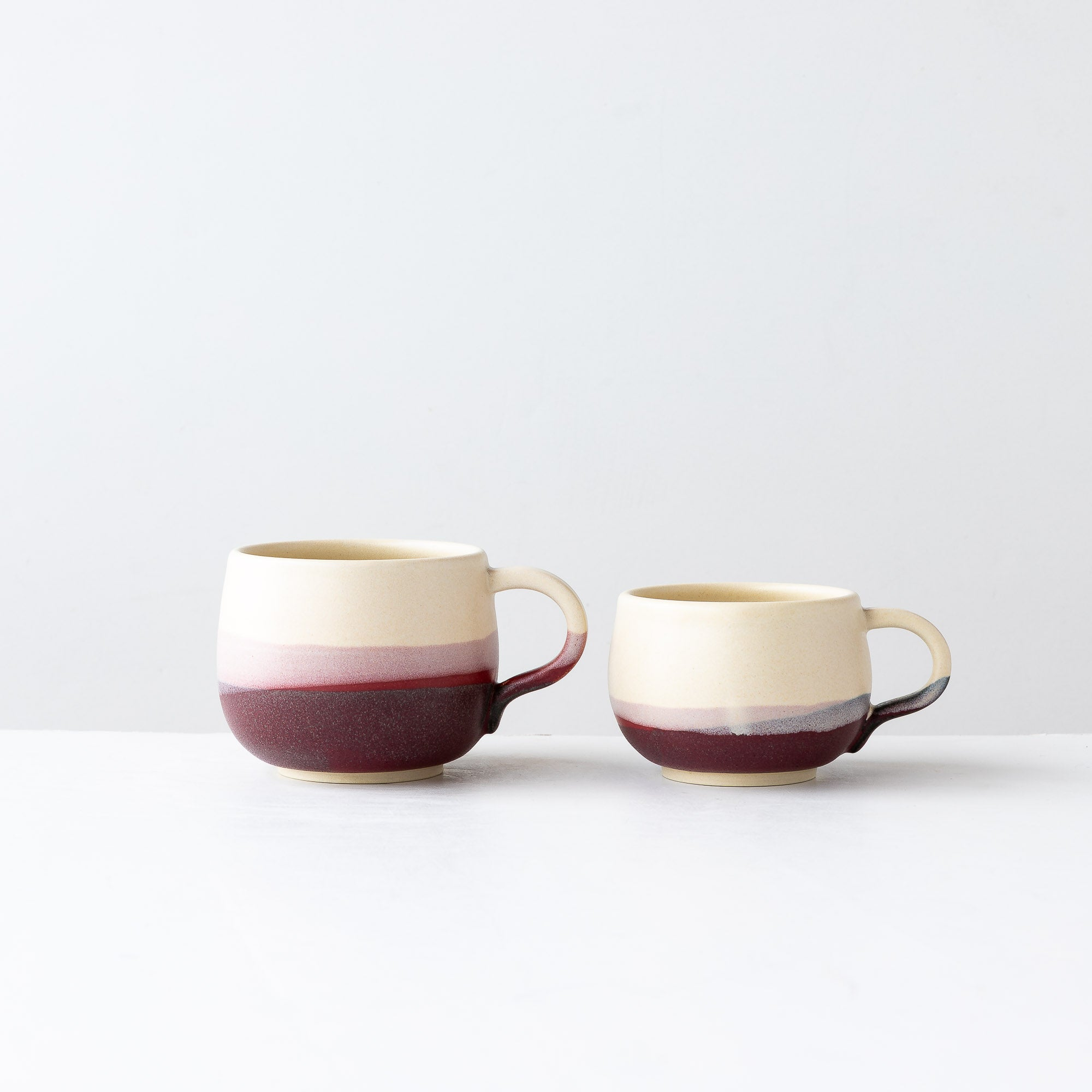Pays d'O - Two Handmade Stoneware Cups / Espresso Cups - Sold by Chic & Basta