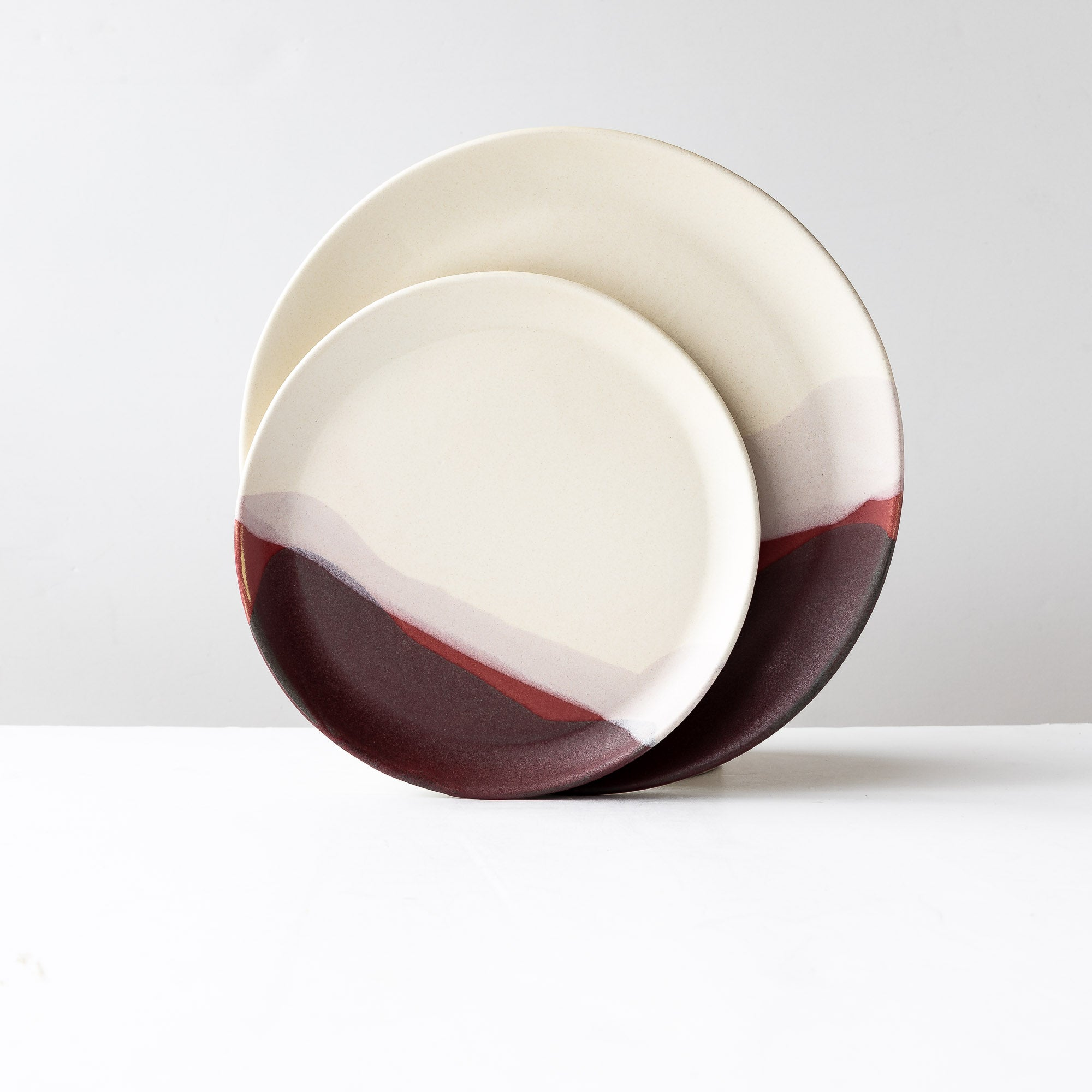 Pays d'O - Two Handmade Stoneware Plates - Sold by Chic & Basta
