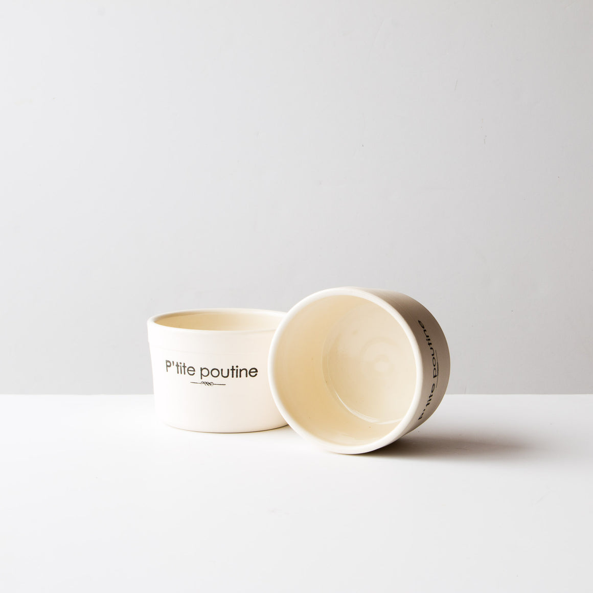 "Porcelain Bowls ""Petite Poutine"" (Set of 2) - Handmade in Quebec - Sold by Chic & Basta"