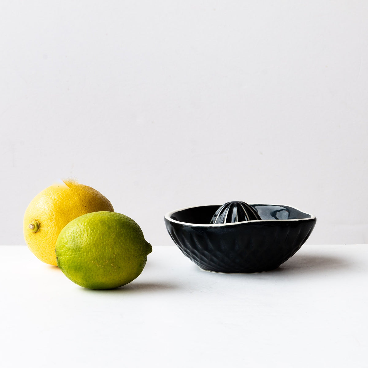 Black & White Handcrafted Small Porcelain Citrus Juicer - Sold by Chic & Basta
