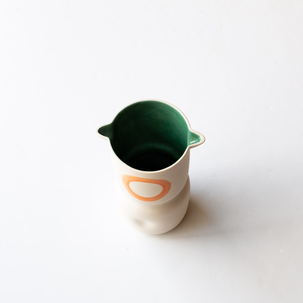 Top View - Handmade Porcelain Vase / Wine Cooler - Sold by Chic & Basta