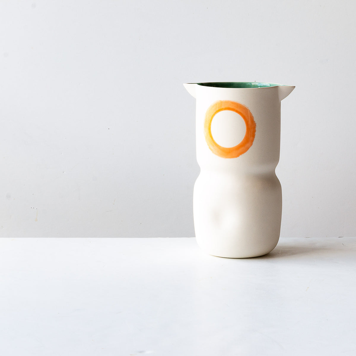 Front View - Handmade Porcelain Vase / Wine Cooler - Sold by Chic & Basta