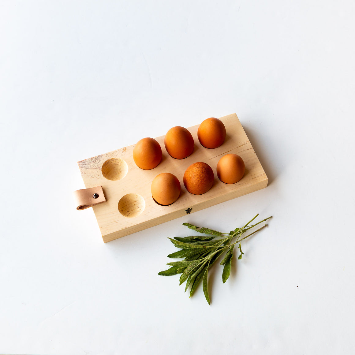 Handmade Recycled Wood Egg Holder Tray - Sold by Chic & Basta