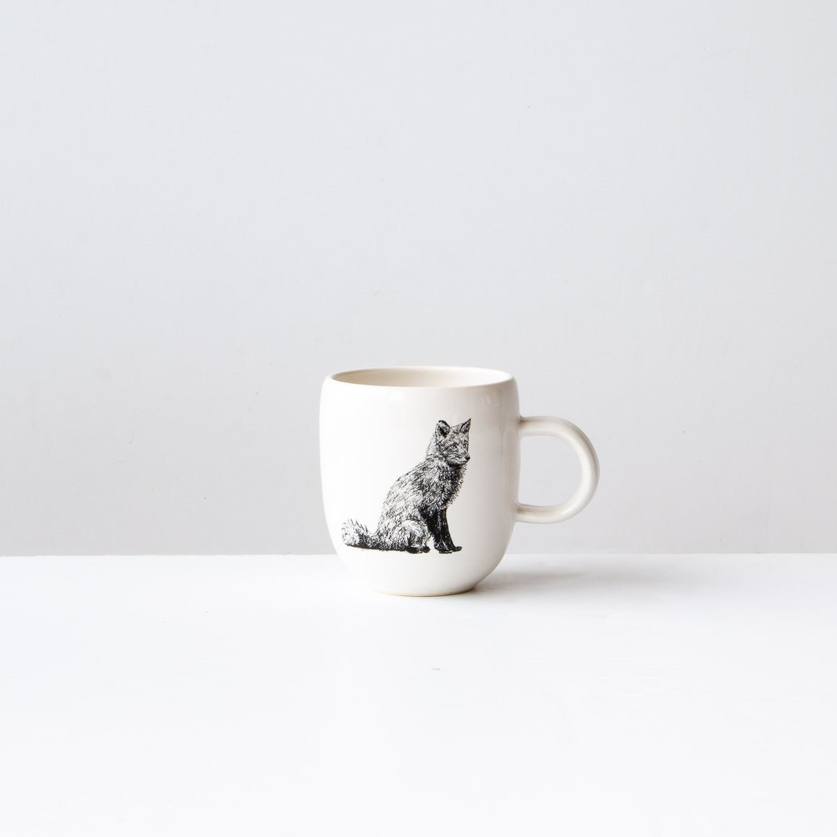 Red Fox - Handmade Porcelain Coffee Mug - Sold by Chic & Basta