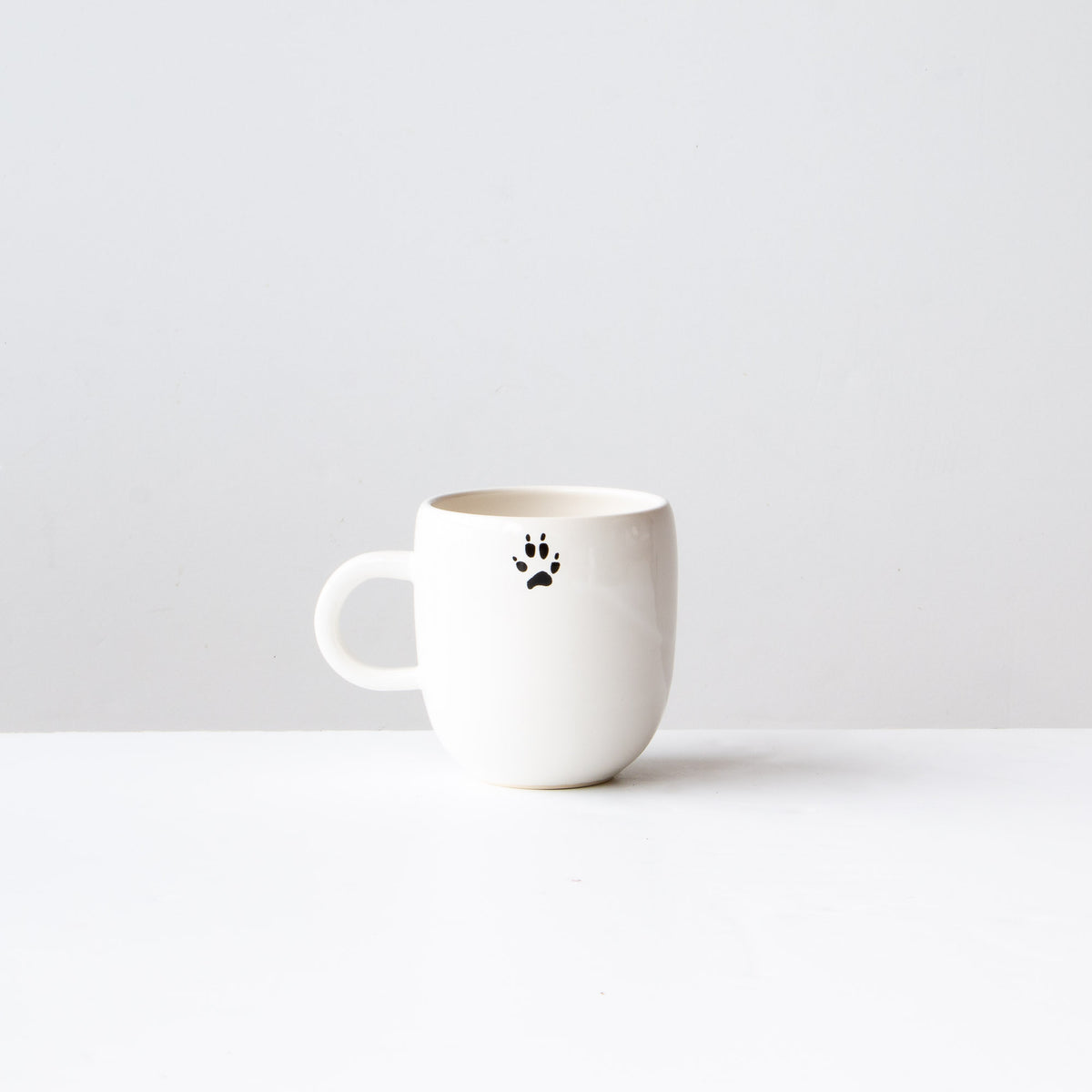 rear View - Red Fox - Handmade Porcelain Coffee Mug / Cup - Sold by Chic & Basta