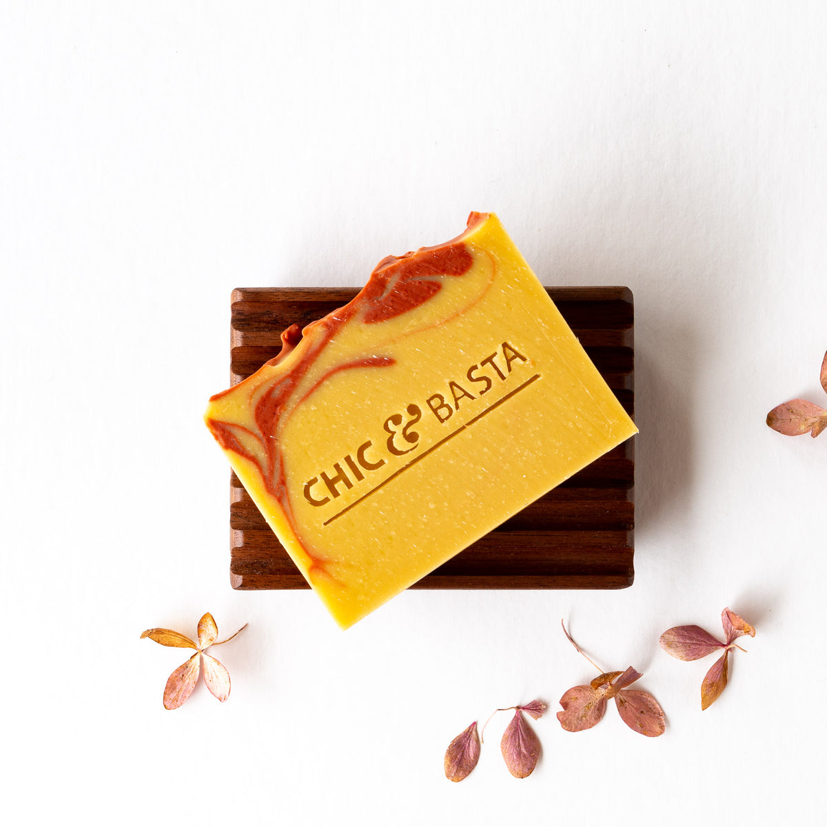 Handcrafted Refreshing Soap With Goat's Milk & Grapefruit + Black Walnut Soap Dish - Sold by Chic & Basta