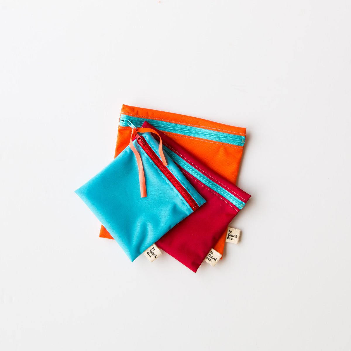 Reusable Snack & Sandwich Bags Trio - Food Safe & Eco-friendly - Sold by Chic & Basta