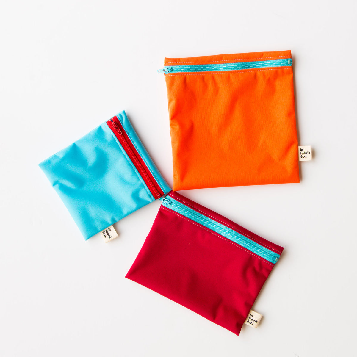 Reusable Snack & Sandwich Bag Trio - Food Safe & Eco-friendly - Sold Online by Chic & Basta