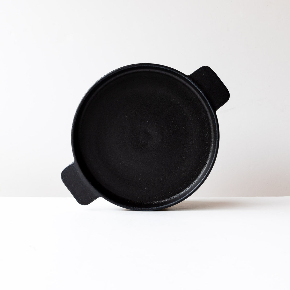 Black Handmade Round Stoneware Gratin Plate / Serving Plate - 10.5 Inch - Sold by Chic & Basta
