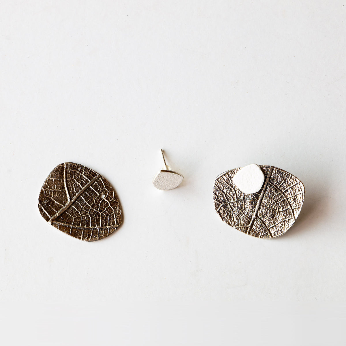 Leaf - Silver & Color Ear Jacket Earrings - Sold by Chic & Basta
