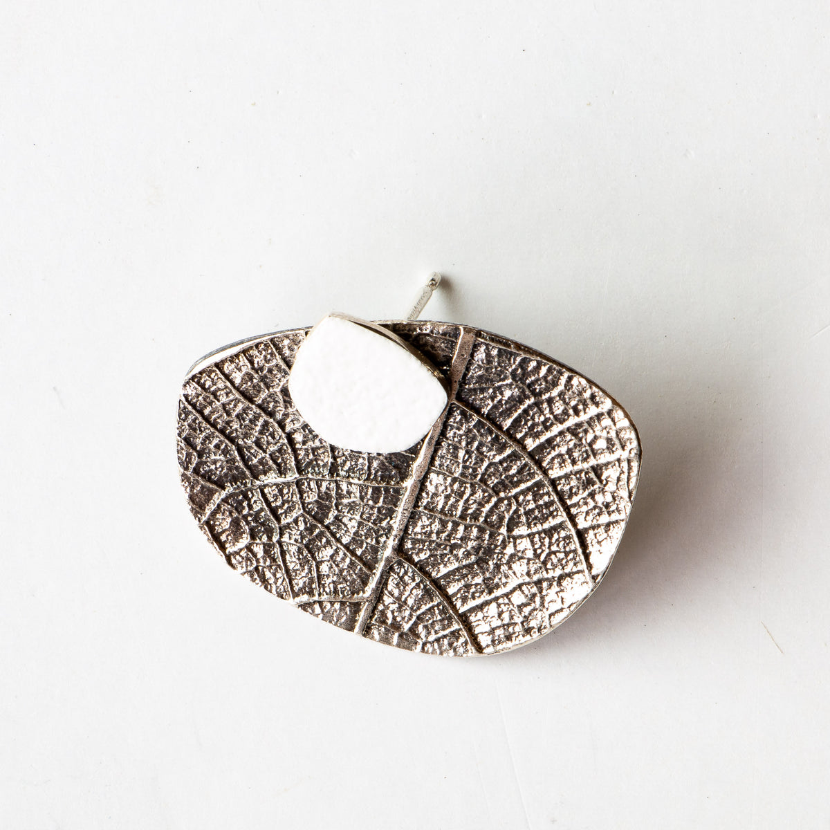 Detail - Silver & White Color Ear Jacket Earrings - Sold by Chic & Basta