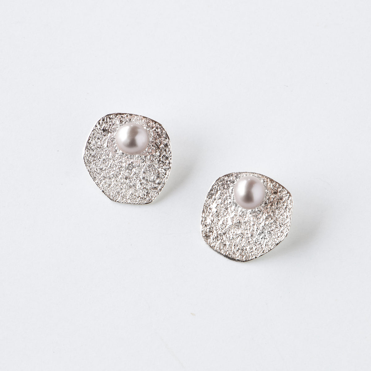 Flora - Silver & Pearl Ear Jacket Earrings