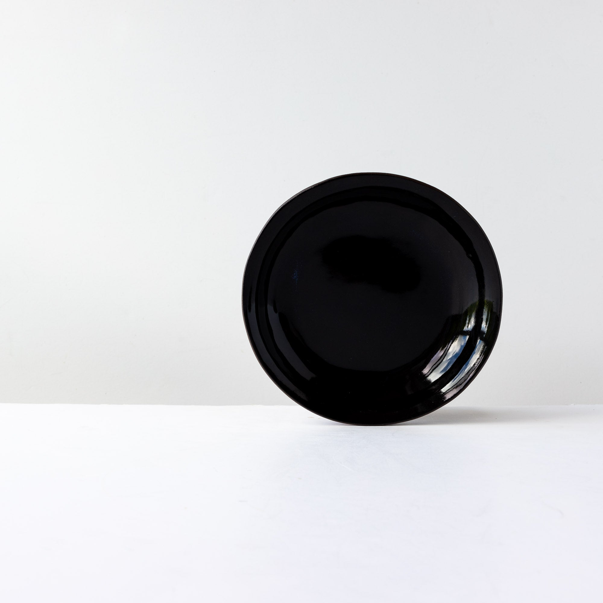 Three Handmade Small Bowls in Black Lacquered Stoneware - Sold by Chic & Basta