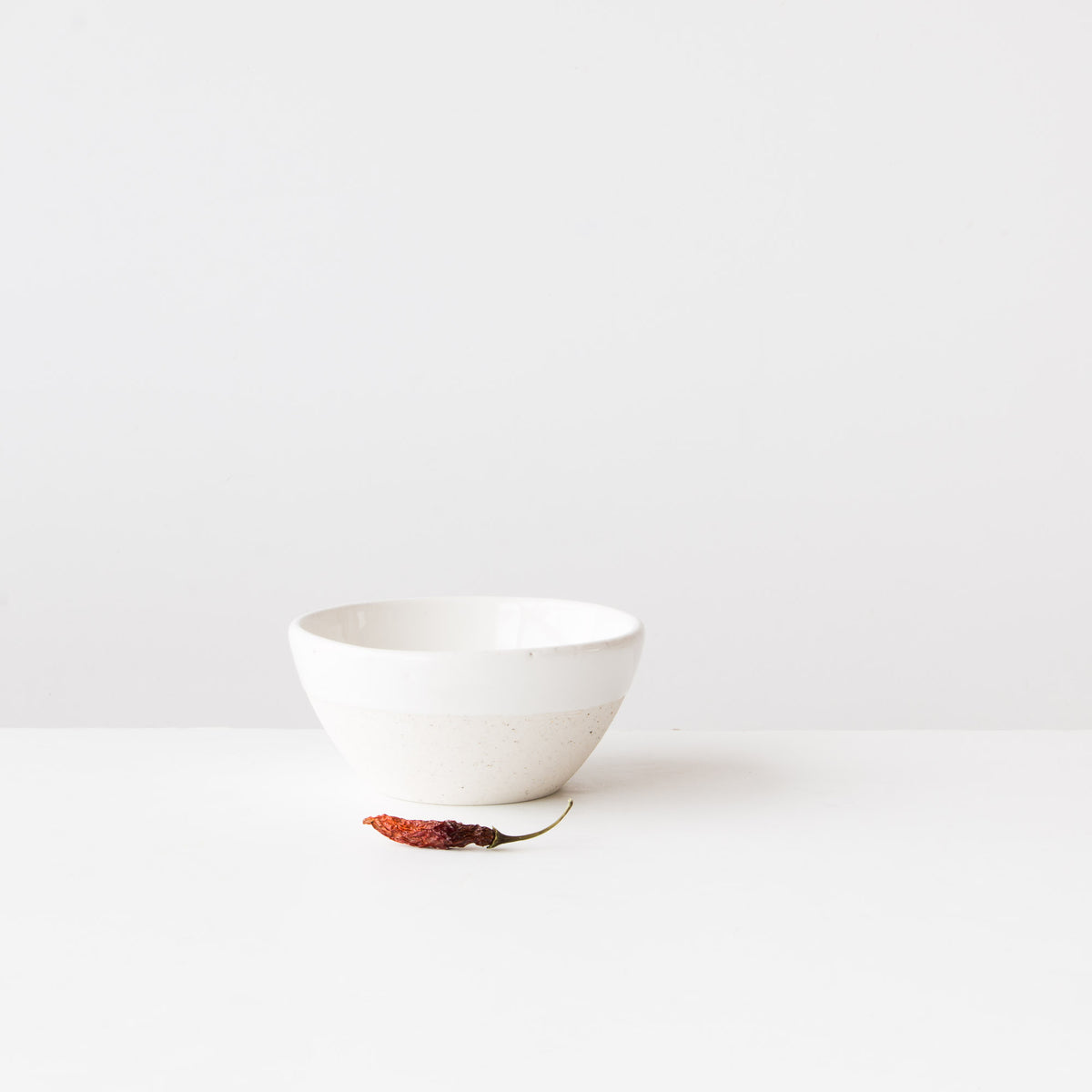 Oatmeal Clay - Soft White Glaze. - Hand-Thrown Small Pottery Soup Bowl - Sold by Chic & Basta