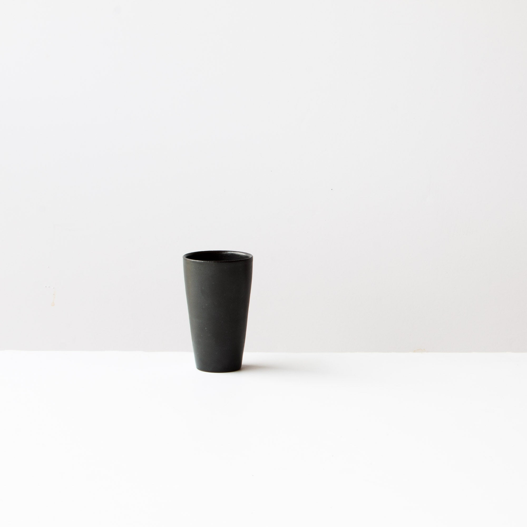 Black Handmade Small Ceramic Goblet / Tumbler - Sold by Chic & Basta