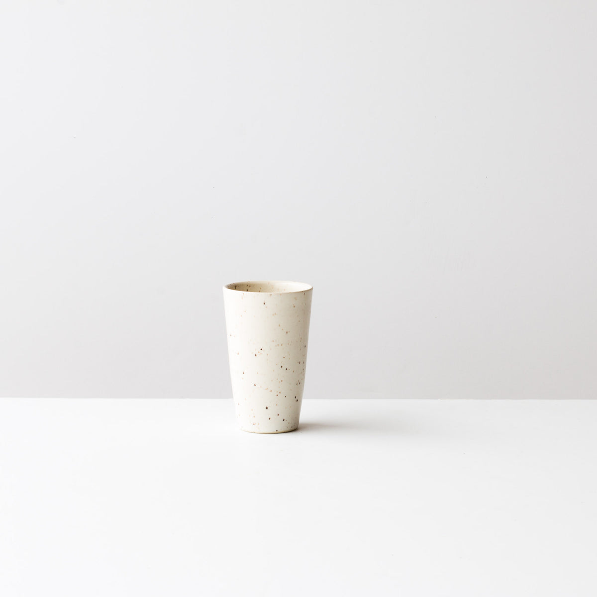 Speckled Off-White -  Handmade Small Ceramic Goblet / Tumbler - Sold by Chic & Basta