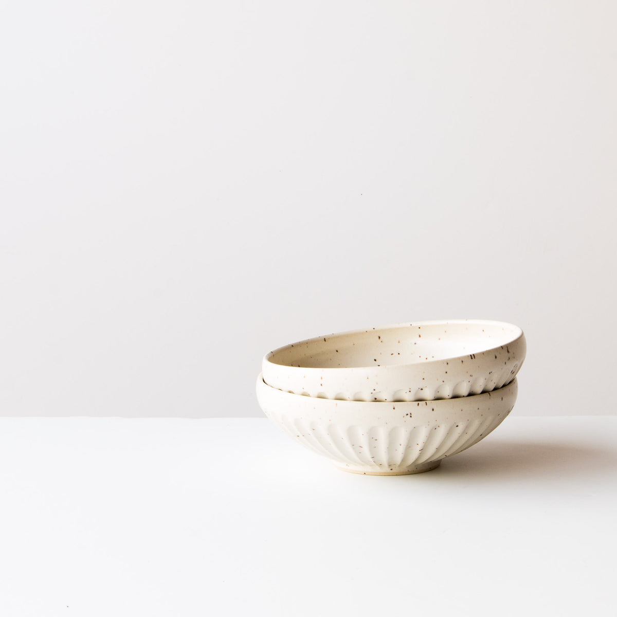 Speckled Off-White - Two Small Handmade Ceramic Bowls - Hand Thrown in Canada - Chic & Basta