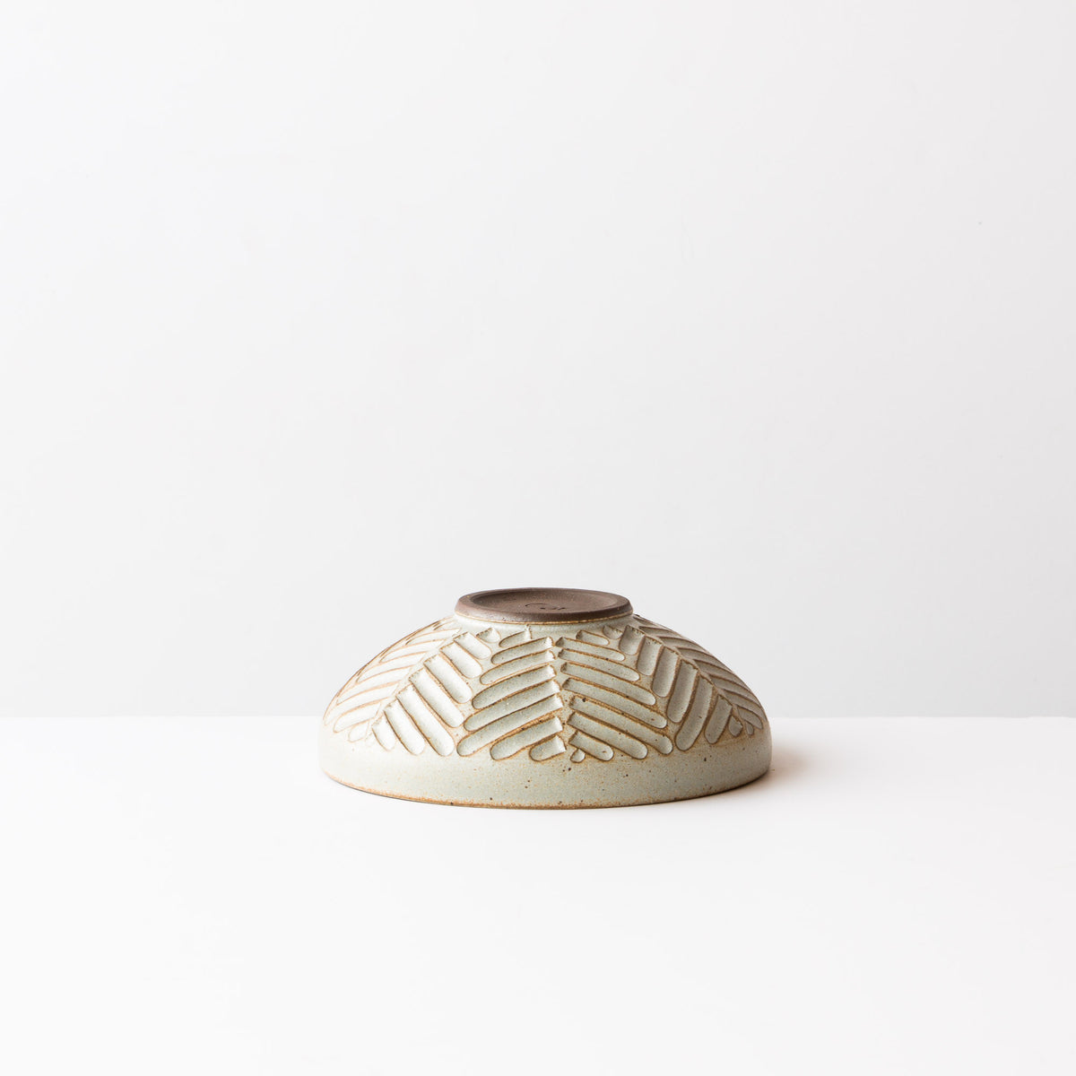 Side View - Greige Colour - Small Hand Thrown Ceramic Bowl - Handmade in Canada - Chic & Basta